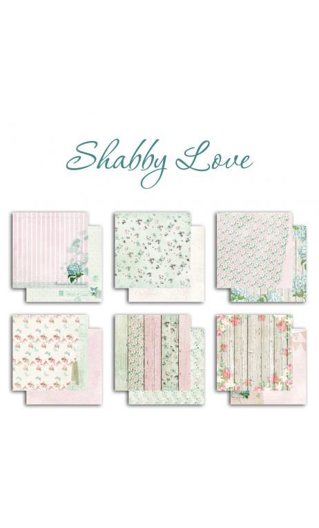 conjunto 6 papeles r/v 30 x 30 Shabby love