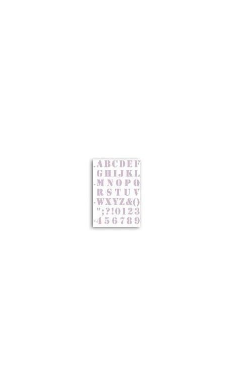 Plantilla abecedario - Grain de Cafe 21x30