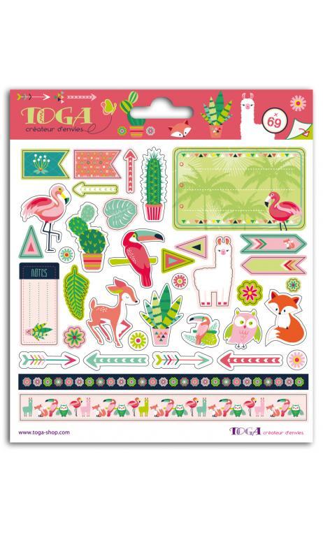 2 hojas de stickers 15 x 15 zanimo