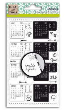 Hoja 18 stickers uñeros agenda bullet