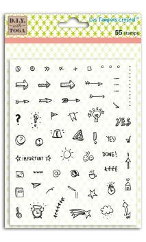 Set sellos crystal® 14x18 iconos Bullet