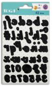 Die's alfabeto- manuscrito minusculo 1 cm