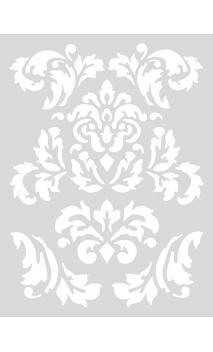 Stencil mediano, Ornamentos Románticos 18,5/24,5 cm Autoadhesivo