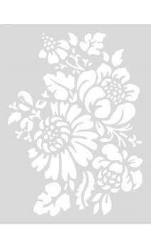 Stencil mediano,Flores clásicas 18,5/24,5 cm Autoadhesivo