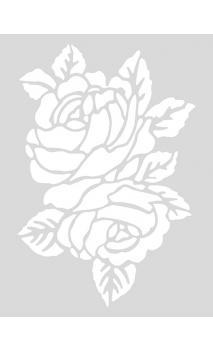 Stencil mediano, Rosas    18,5/24,5 cm Autoadhesivo