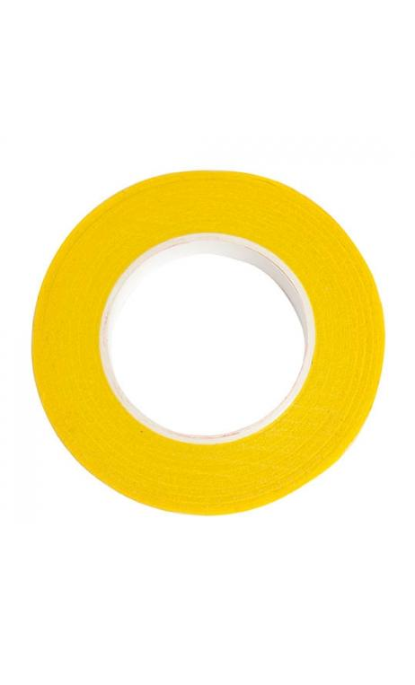 Cinta crepé floral, amarillo 12 mm / 27,5 m