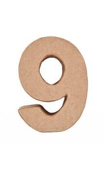 Número de papel maché 9    CA. 17,5/5,5 cm