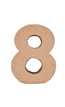 Número de papel maché 8    CA. 17,5/5,5 cm