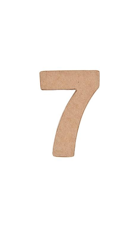 Número de papel maché 7    CA. 17,5/5,5 cm