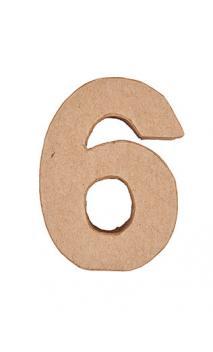 Número de papel maché 6    CA. 17,5/5,5 cm