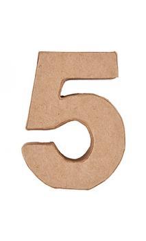 Número de papel maché 5    CA. 17,5/5,5 cm