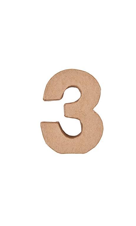 Número de papel maché 3    CA. 17,5/5,5 cm