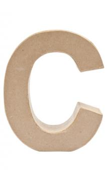 Letra de papel Maché C      17,5/5,5 cm Papel maché