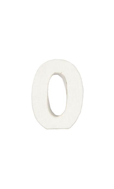 Número de papel Maché 0 pequeño    CA. 7/2,5 cm