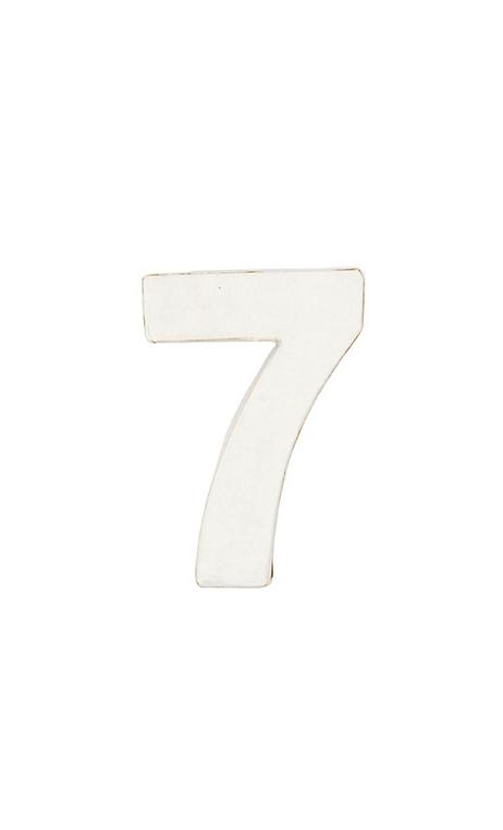 Número de papel Maché 7 pequeño    CA. 7/2,5 cm