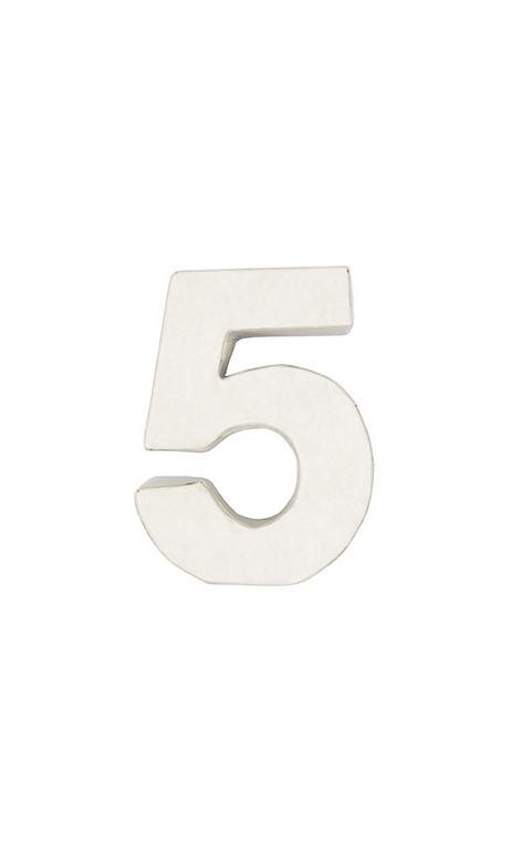 Número de papel Maché 5 pequeño    CA. 7/2,5 cm