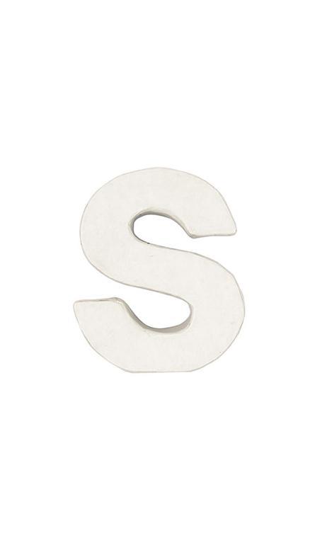 Letra de papel maché S pequeña    CA. 7/2,5 cm