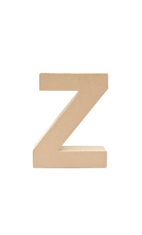 Letra de papel Maché Z      17,5/5,5 cm Papel maché