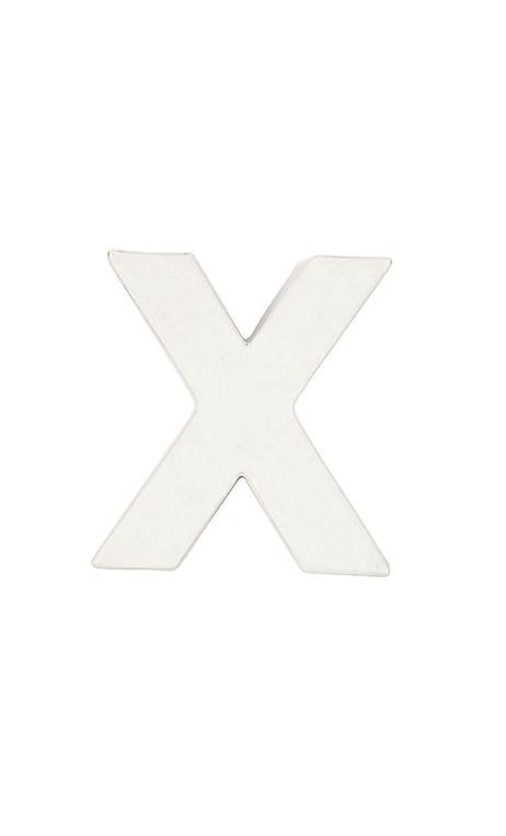 Letra de papel maché X pequeña    CA. 7/2,5 cm