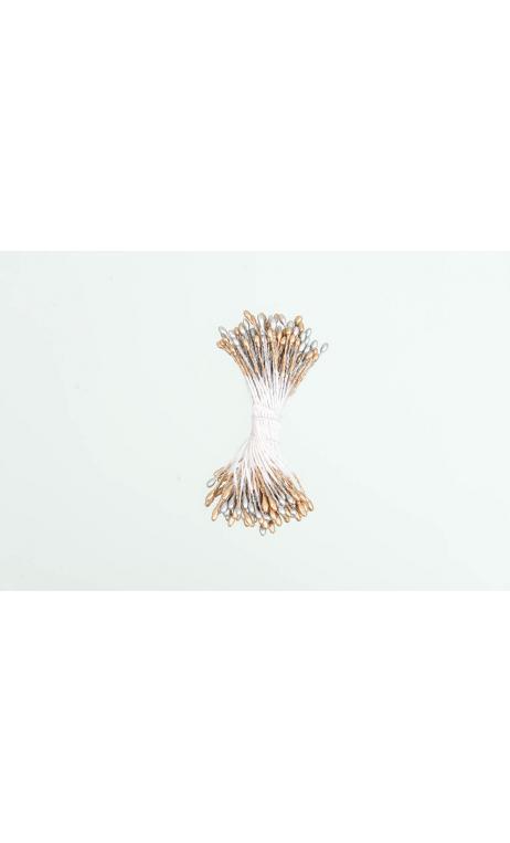 Semillas de flor, oro/plata 100 pcs, 6 cm