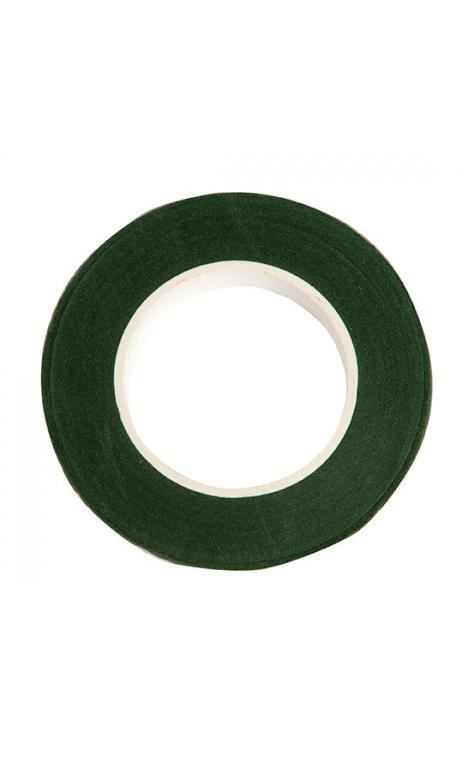 Cinta crepé floral, verde oscuro 12 mm / 27,5 m