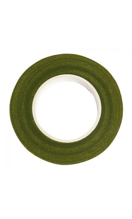 Cinta crepé floral, verde 12 mm / 27,5 m