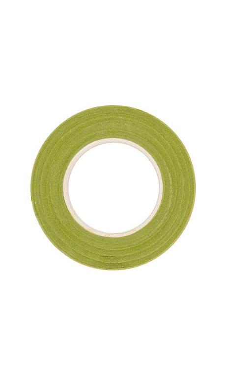 Cinta crepé floral, verde claro 12 mm / 27,5 m