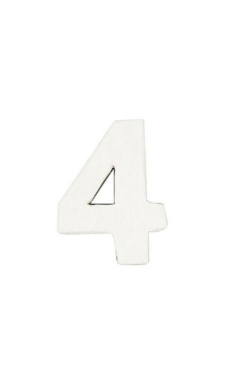 Número de papel Maché 4 pequeño    CA. 7/2,5 cm
