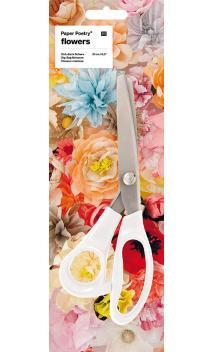 """Tijeras zig-zag """"Flores"""" 21 cm"""