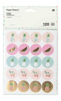 Stickers Primavera Tropical, Piña