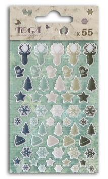 55 epoxy cerf, sapin, snowflake ornaments