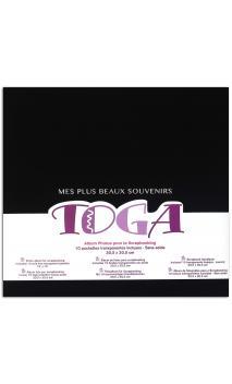 """Album 30x30 tela negro """"mes plus beaux souvenirs"""""""