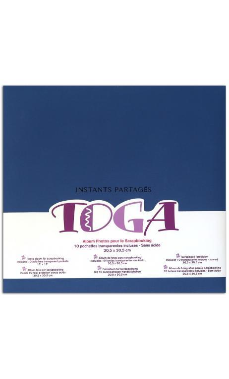 """Album 30x30 tela azul """"instants partages"""""""
