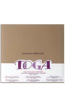 "Album 30x30 tela marrón ""instants partages"""