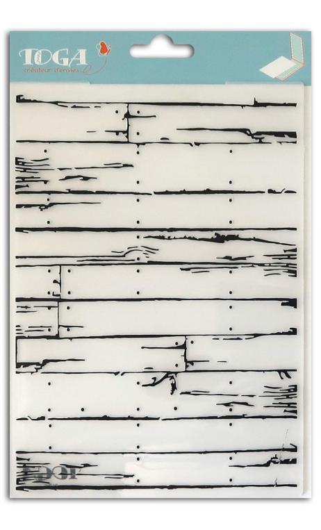 Plancha emboss A5 madera