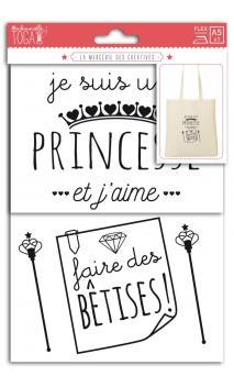 Motivos termoadhesivos A5 - je suis une princesse