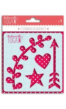 Plantilla para textil  125x125 - Adornos