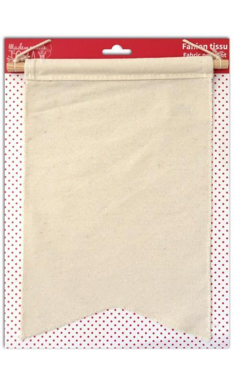 Banderola de tela 20x30cm - blanco natural