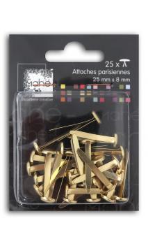 25 maxi encuadernadores 25 mm - oro