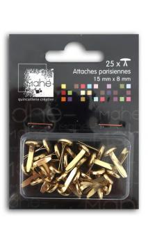 25 maxi encuadernadores 15 mm - oro