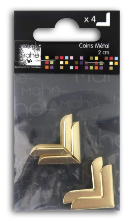4 esquinas metal oro 2 cm