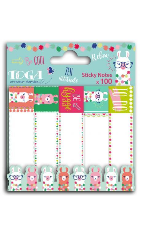 100 sticky notas Llama