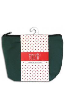 Bolsa con fuelle con cremallera mediana verde caqui