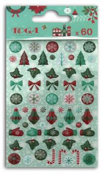 60 adornos epoxy Feliz Navidad