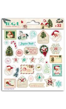 1 hoja stickers epoxy Dear Santa