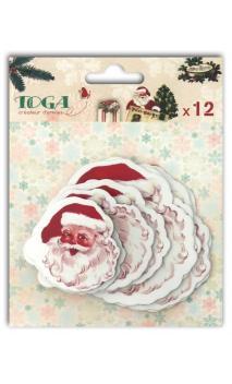 12 chipboards 3 tailles Papá Noel
