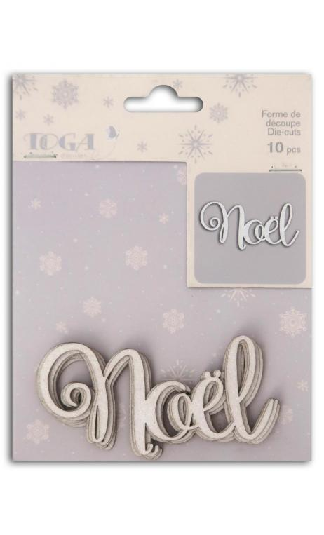 L'or de bombay 10 die cuts white Christmas