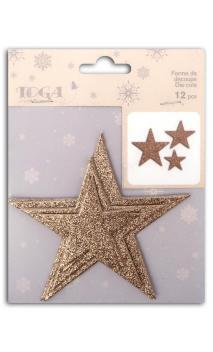 L'or de bombay 12 die cuts Estrellas champagne rosa