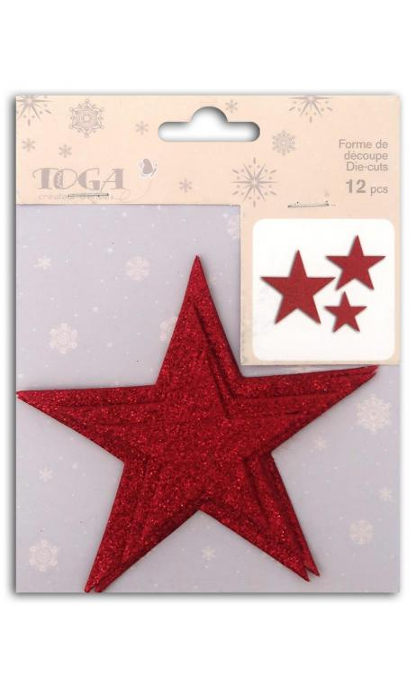 L'or de bombay 12 die cuts Estrellas rojas