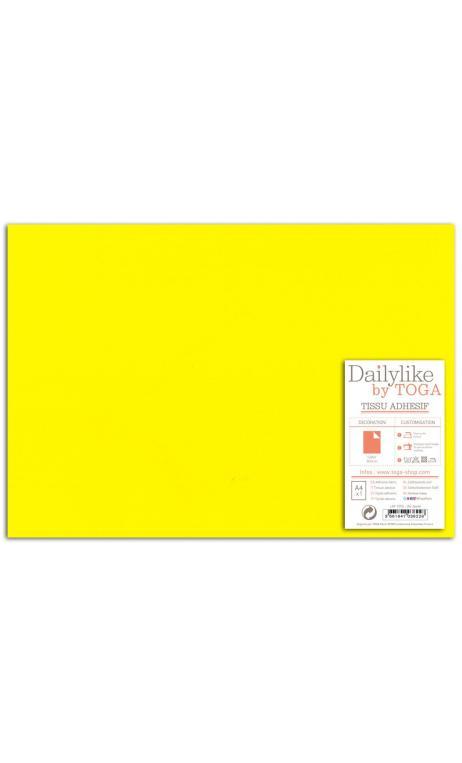 Tela adhesiva A-4-lisa amarillo